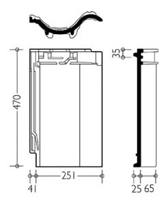 Технічні характеристики модель керамічної черепиці Агат 10 V