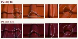 Технічні характеристики моделі керамічної черепиці Рубін 13 V Braas