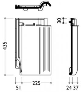 """Технічні характеристики модель керамічної черепиці """"Рубін 13 V"""""""