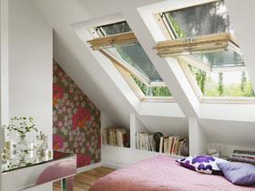 GGL - дерев'яне мансардне вікно з центральною віссю відчинення