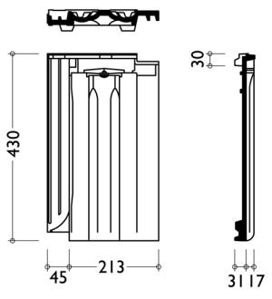 Технічні характеристики модель керамічної черепиці Гранат 13V