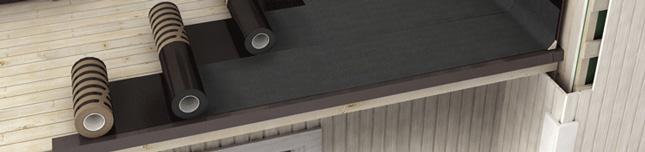 Kerabit Dual - абсолютно новий гідроізоляційний матеріал для індивідуальних забудовників.  За допомогою Kerabit Dual досягається двошарова гідроізоляція без застосування вогню. Нахлест 55 см, таким чином одна половина рулону виконує функцію підкладкового килима, а друга половина є верхнім килимом. З одного рулону виходить 4 м² готової гідроізоляції.