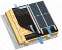DELTA-EXXTREM Дифузійна мембрана призначена для гідроізоляції мансардних дахів з одним вентиляційним зазором при влаштуванні інтегрованих в покрівлю сонячних батарей або колекторів.