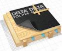 DELTA-FOL PVE Армована підпокрівельна плівка для дахів з 2-шаровою вентиляцією. Укладання на крокви або суцільний настил.