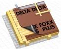 DELTA-FOXX PLUS / DELTA-FOXX Дифузійна мембрана для влаштування водонепроникної нижньої покрівлі на утеплених скатних дахах із суцільним настилом.
