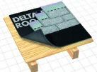 DELTA-ROOF Дифузійна гідроізоляційна мембрана як підкладковий килим для покрівель з бітумною черепицею.