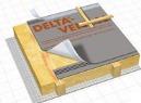 Ззовні: DELTA-VENT N PLUS/ DELTA-VENT N  Покрівельні гідроізоляційні плівки DELTA для дахів з одношаровою вентиляцією з суцільним настилом DELTA-VENT N PLUS/ DELTA-VENT NЗавдяки високій паропроникності (значення Sd біля 0,02 м) залишкова вологість надійно відводиться з конструкції даху в зовнішнє середовище. З зовнішньої сторони DELTA-VENT N PLUS/ DELTA-VENT N здійснюють додатковий захист даху від задування снігу і дощу, запобігає проникненню комах в дерев'яні елементи даху.  Низька повітропроникність  запобігає видуванню тепла з утеплювачу, завдяки чому знижуються затрати на утеплення дому.
