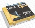 DELTA-VITAXX Дифузійна армована мембрана для скатних дахів. Поєднання міцності, пластичності і високої паропроникності.