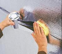 DELTA-POLY-BAND Прозора клейка стрічка з алюмінієвим напиленням. Володіє високою стійкістю до старіння і високою силою зчеплення.