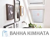 мансардні вікна та жалюзі ванна, фото мансарда ванна кімната