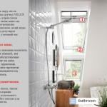 мансарда ванна дизайн фото, ванная в мансарде фото, интерьер ванной в мансарде фото, жалюзи для ванной мансарда фото, інтер'єр ванної в мансарді фото, вікна для ванної мансарда фото, мансардні вікна та жалюзі ванна