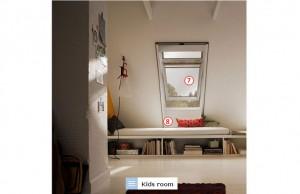 мансардні вікна та жалюзі дитяча, фото мансарда детская, мансардні вікна та жалюзі дитяча кімната, фото мансарда детская комната