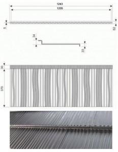 Модульна металочерепиця КАРПАТІЯ розміри