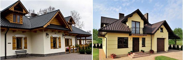 Фото будинку з покриттям металочерепицею Крон (Kron) Прушиньскі