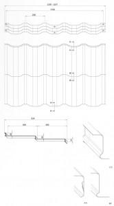 Характеристики металочерепиці Венеція (Venecja) модуль 400