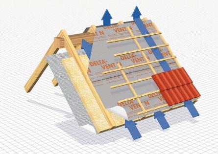 Плівка DELTA-VENT N - дифузійна тришарова мембрана для повністю утеплених дахів