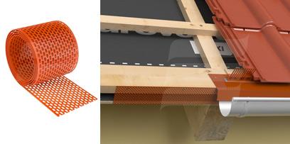 EAVES GRATE стрічка звису вентиляційна (ПВХ, рулон 5 м.п * 10 см) червона, коричнева, біла, чорна