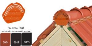 Івер Eurovent DECK 50x120 мм – коньковий торцевий елемент