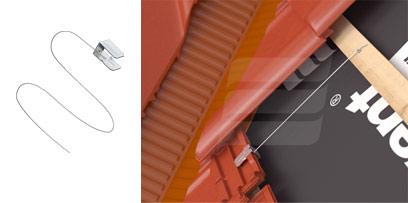 Eurovent Скоба (клямр) С для кріплення для обрізаної черепиці