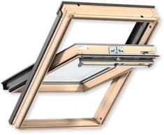 Класичне мансардне вікно VELUX PREMIUM, ручка зверху GGL 3070