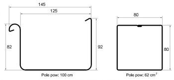 Розміри водостоку GALECO STAL2