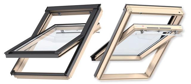 Переваги мансардних вікон VELUX лінії Optima Стандарт ручка зверху GZR