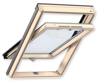 Переваги мансардних вікон VELUX лінії Optima Стандарт ручка знизу GZR
