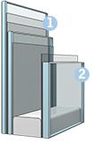 Склопакет (код - 34) - матове покриття найвищого ґатунку для усамітнення