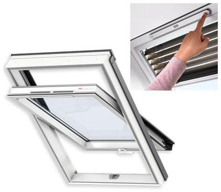 Переваги мансардних вікон VELUX лінії OPTIMA Комфорт ПВХ GLP 0073B