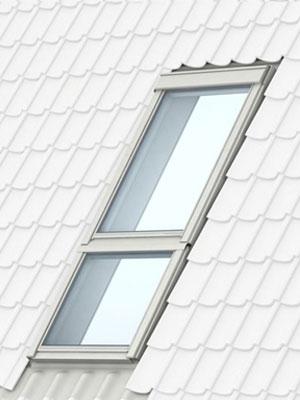 Похилі елементи - продовження Вашого вікна VELUX GIL (матеріал: сосна, вкрита прозорим або білим лаком) чи GIU (поліуретанове покриття).