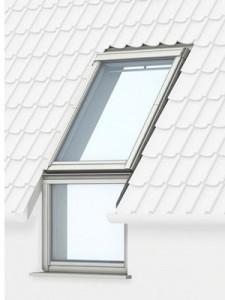 Вертикальні віконні елементи. Продовження Вашого вікна призначені для встановлення безпосередньо під мансардними вікнами VELUX. Вікна простягаються майже до полу і забезпечують фантастичний вид і візуально збільшують Ваш життєвий простір. Ми пропонуємо вертикальні віконні елементи VFE (виготовлений із сосни, вкритої прозорим або білим лаком) і VIU (поліуретанове покриття). Модель VFE відкривається всередину за допомогою ручки на верхній рамі, а модель VIU не відкривається. Модель GIU з поліуретану не потребує додаткового догляду, миття або перефарбовування. За потреби рекомендовано протирати м'якою вологою ганчіркою.