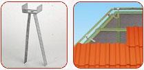 Кріплення гребеневої/хребтової планки – застосовується як опора для гребеневого/хребтового бруска, по якій кріпиться гребенева черепиця.