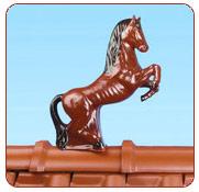 Декоративні елементи покрівлі - кінь