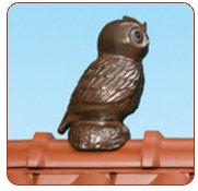 Декоративні елементи покрівлі - сова