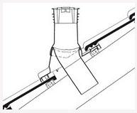 Комплект Дюровент з вентиляційним насадом креслення