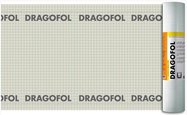DRAGOFOL - армована гідроізоляційна плівка для холодних дахів та утеплених дахів з двома вентеляційними зазорами