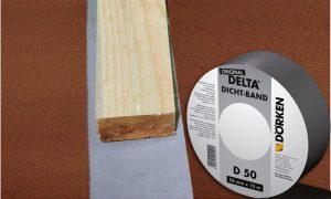 DELTA®-DICHT-BAND D 50 - ущільнювальна стрічка під контробрешетування. Максимальна надійність від протікання завдяки клейкому шару з бітум-каучуку.