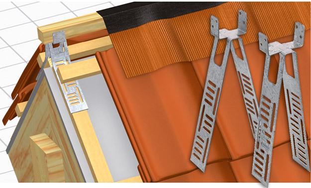 DELTA®-FGH - кріплення гребеневої і хребтової обрешітки.