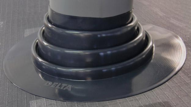 DELTA®-FLEXX MANSCHETTE - покрівельний ущільнювач для герметичного ущільнення проходок труб.