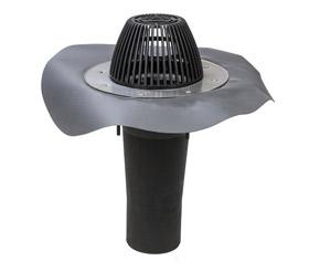 Vilpe АМ водостічна воронка, фланець Алкорплан темно-сірий
