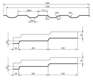 Технічні характеристики металочерепиці Статус