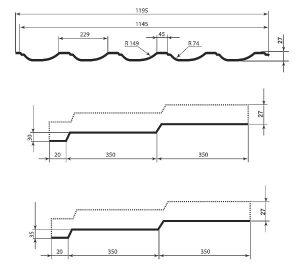 Технічні характеристики металочерепиці Модерн