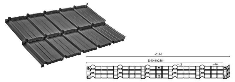 Технічні характеристики модульної металочерепиці Murano