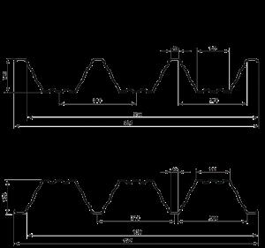 Технічні характеристики несучий профнастил НС-135