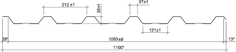 Технічні характеристики профнастил НС-35