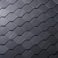 КЛАДКА СОТАМИ SAMACA Покриття сотами - фасадні поверхні здаються гармонійними і рівномірними, через квадратну основну форми сланцю з обрізаним кутом. Цей тип покриття можна укладати як на ліву, так і на праву сторону.