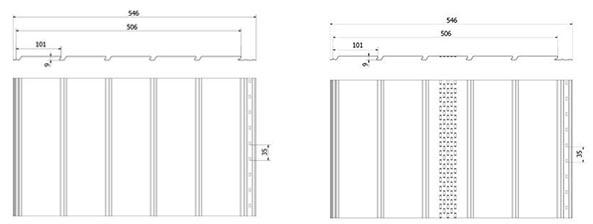 Технічні параметри сталеві софіти Budmat