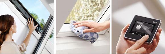 Переваги дерев'яного вологостійкого білого мансардного вікна VELUX PREMIUM в поліуретані GGU 0070