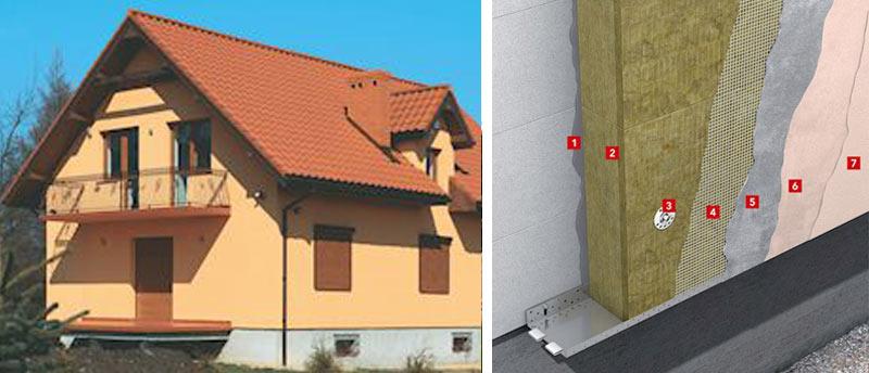 Теплоізоляція фасаду з товстим штукатурним шаром