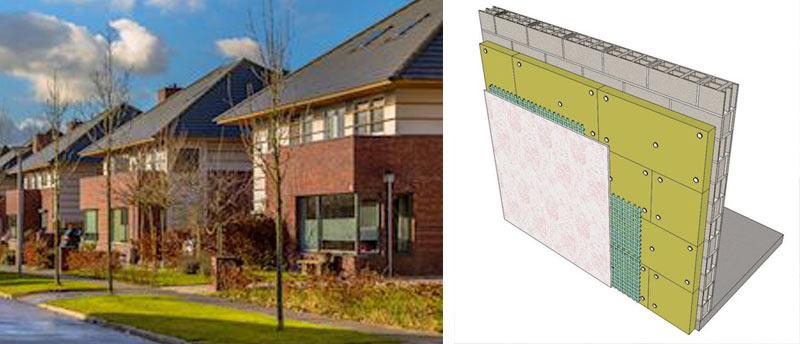 Теплоізоляція фасаду з облицюванням клінкерною плиткою